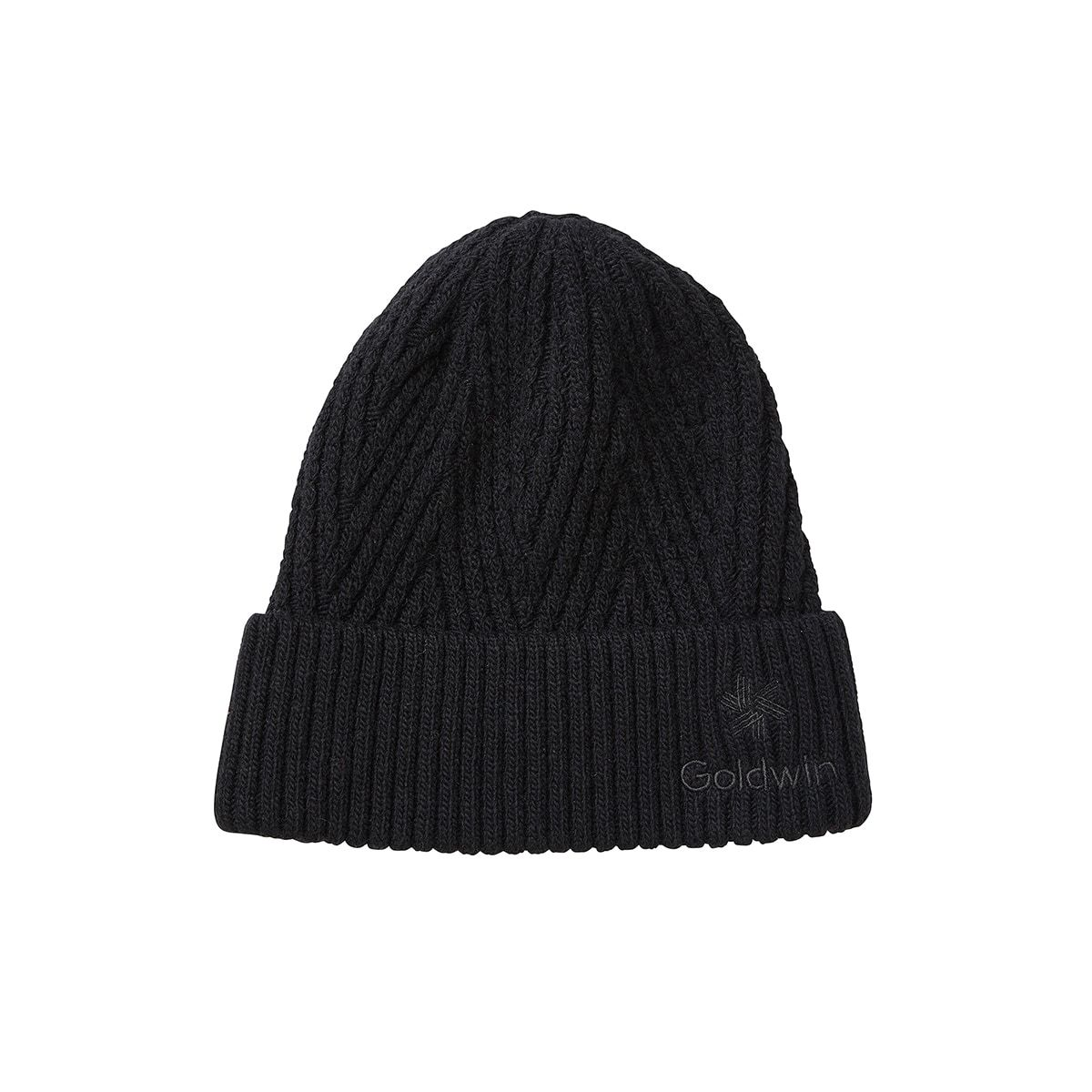 BIG HERRINGBONE TURN UP BEANIE