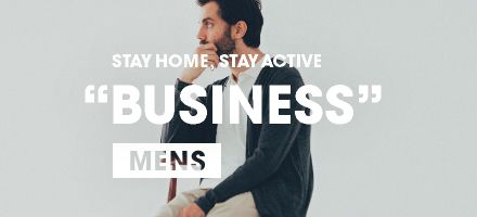 "STAY HOME, STAY ACTIVE ""BUSINESS"" MENS"